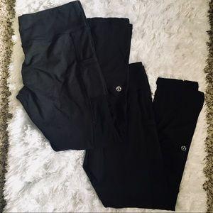 Bundle- 2 pairs of Lululemon Leggings Size 8